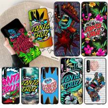 цена на NBDRUICAI Skateboard Santa Cruz brand Soft black Phone Case for Huawei P30 P20 Mate 20 Pro Lite Smart Y9 prime 2019