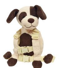 Buddy Harness Kaffee Hund 2-in-1 Baby Rucksack Sicher und Schutz Walking Reins für Kinder Im Alter von 1 zu 3