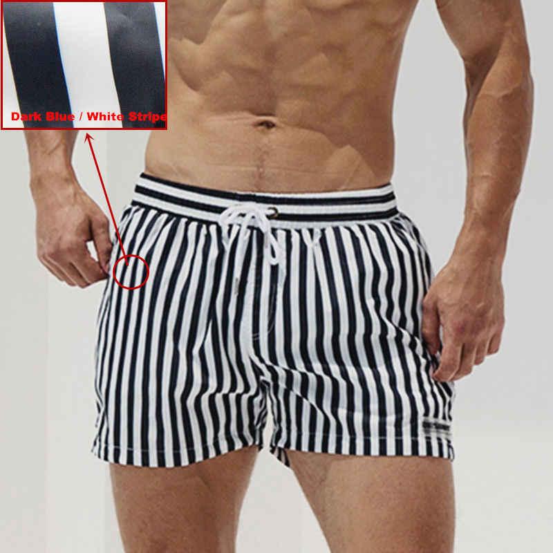 Pantalones cortos de baño bañadores de playa traje de baño tabla de surf a rayas de talla grande para hombre secado rápido para hombre DESMIIT Beach