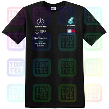 Mercedes F1 Junior Team Tee T Shirt Black New *Sale* Streetwear Size S-3Xl