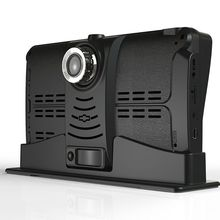 7 Split Monitor Truck Bus RV Dual Camer Driving Recorder Backup Reverse Camera