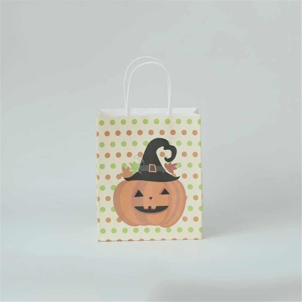 Halloween Candy กระเป๋ากระเป๋าของขวัญที่น่ารัก Candy กล่อง 3PCS ลูกอมฮาโลวีนแบบพกพา Halloween Props ฟักทองกระเป๋าของขวัญกระเป๋า k807