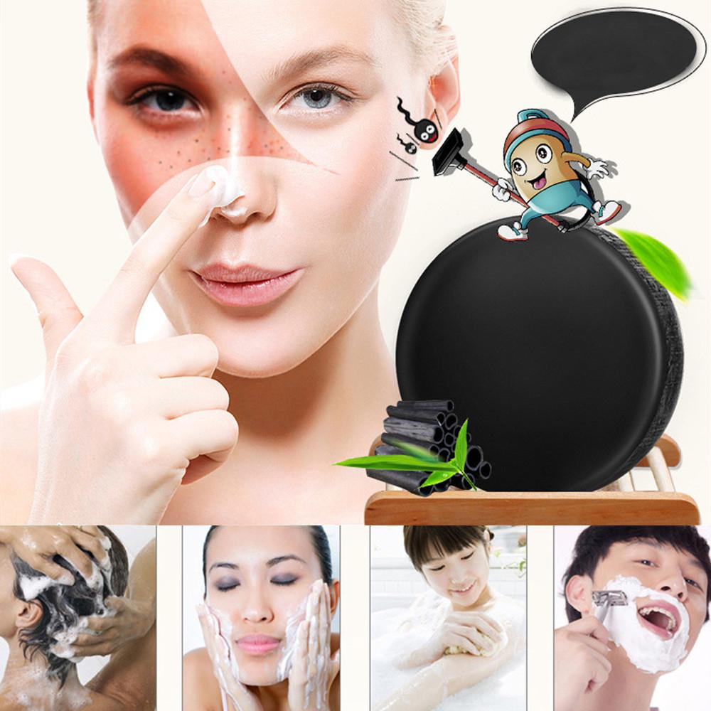 Activated Charcoal Crystals Handmade Soap Facial Skin Whitening Soap For Remove Blackhead Oil Control Face Washing Soap TSLM1
