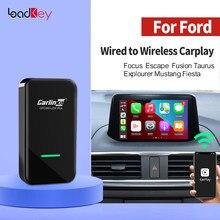 Loadkey & Carlinkit 2.0 CarPlay inalámbrico activador para Ford Focus escapar fusión Taurus Explourer Mustang Fiesta Sync3 caja inteligente