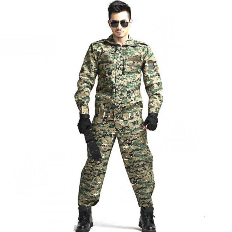 Paintball Tactical Camouflage Military Uniform Camouflage Combat Suit Military Clothing For Hunter And Fishing Shirt And Pants image