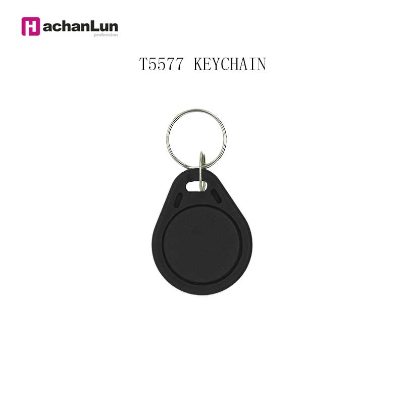 5PCS Color Random EM4305 T5577 Access Card Replicator Repeated Write Keychain 125KHZ RFID Tag Access Control Card Sticker