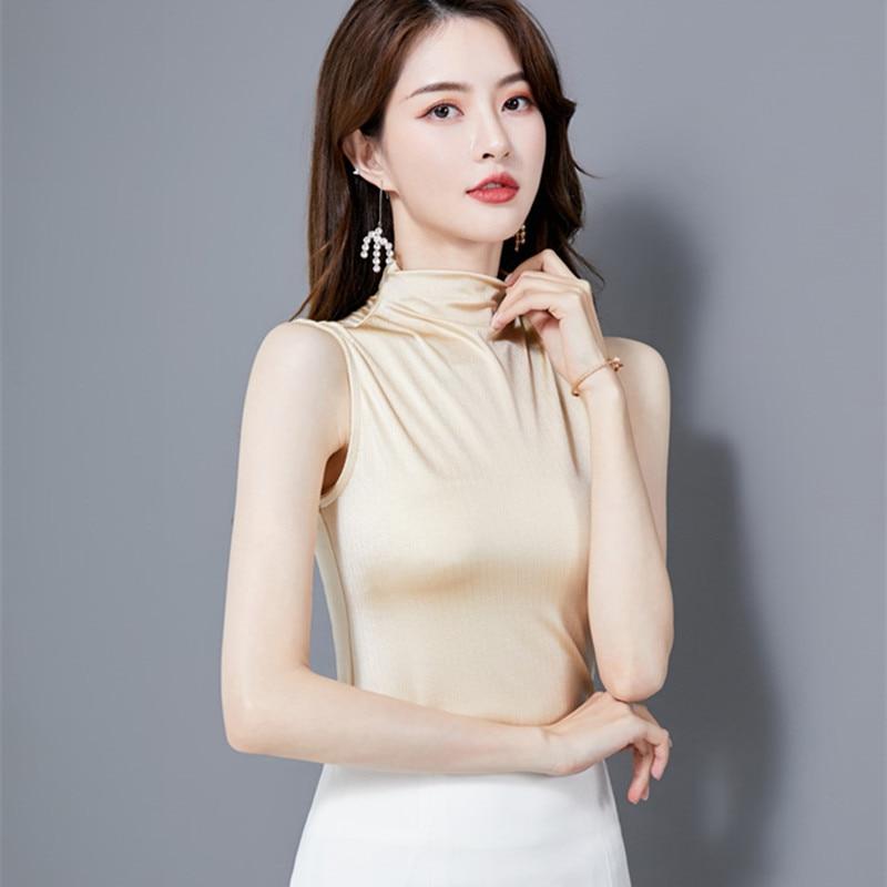 Korean Silk Women Blouses Woman Satin Blouse Elegant Women Solid Shirts Plus Size Blusas Mujer De Moda Womens Tops and Blouses
