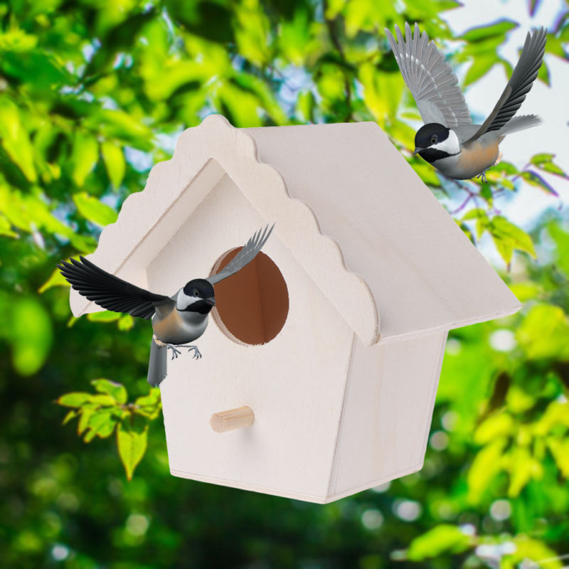 Nest House Bird Box Wood Canary Nest Pans Box Bird Nest Breeding Boxes For Wooden Cage Fixing Parts Supply 2020 New Arrival