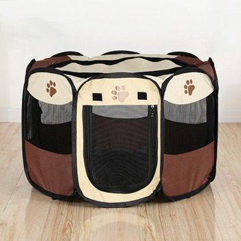 Portable Foldable Playpen For Pets  1