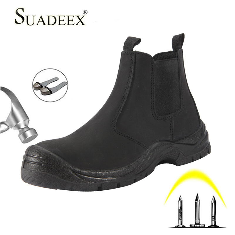SUADEEX S3 Men Work Shoes Boots Male Construction Safety Shoes Steel Toe Indestructible Safety Work Boots Sneakers Waterproof