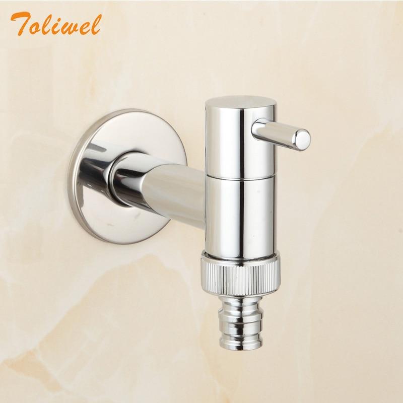 Brass Chrome Laundry Bathroom Washing Machine Faucet Wall Mount Sink Basin Water Faucet Tap Spigot Bibcocks 2630021S