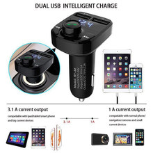 Wireless Bluetooth FM Transmitter Hand-free Car Kit MP3 W/ Dual USB Connect(China)
