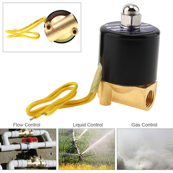 1/4 AC 110V / 220V Electric Solenoid Valve Pneumatic Valve Brass Body for Water / Oil / Gas gas bbq grill gas fire pit gas heater solenoid valve 3 8npt brass valve