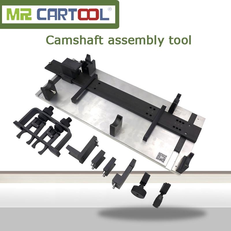 MR CARTOOL Camshaft Fitting Tool Set Cylinder Head Rebuild Timing Tool For VW Audi Porsche CR T40094 T40095 T40096 Diesel Engine