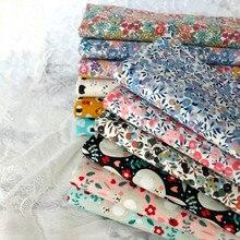 145x50 см пасторальная Цветочная саржевая хлопковая ткань DIY Детская одежда ткань для изготовления постельных принадлежностей одеяло украшение дома 160-180 г/м