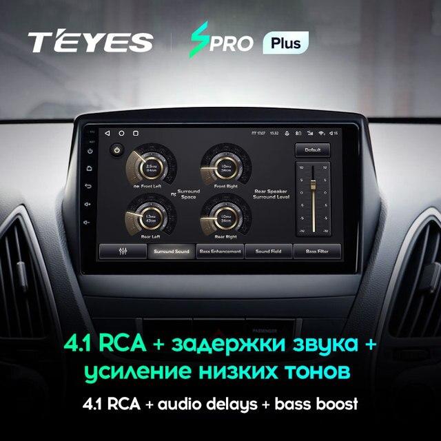 TEYES SPRO Plus Штатная магнитола For Хендай Туксон 2 LM For Hyundai Tucson 2 LM IX35 2009 - 2015 Android 10, до 8-ЯДЕР, до 4 + 64ГБ 32EQ + DSP 2DIN автомагнитола 2 DIN DVD мультимедиа автомобиля головное устройство 3