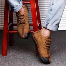 Valstone gorąca sprzedaż zimowe męskie skórzane trampki duże rozmiary 48 vintage mroźne buty wysokie góry ciepłe buty khaki czarny złoty
