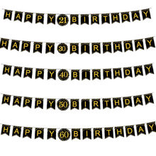 Cartel de papel para fiesta de cumpleaños para adultos, guirnalda con letras 40 50 60 70 años, decoración de fiesta, 30 años, 30 años