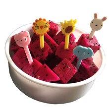 Вилки для фруктов, вилки для детей, креативные пластиковые вилки для фруктов, простые украшения, для дома, кухни, милые Мультяшные вилки для детей, 10 шт