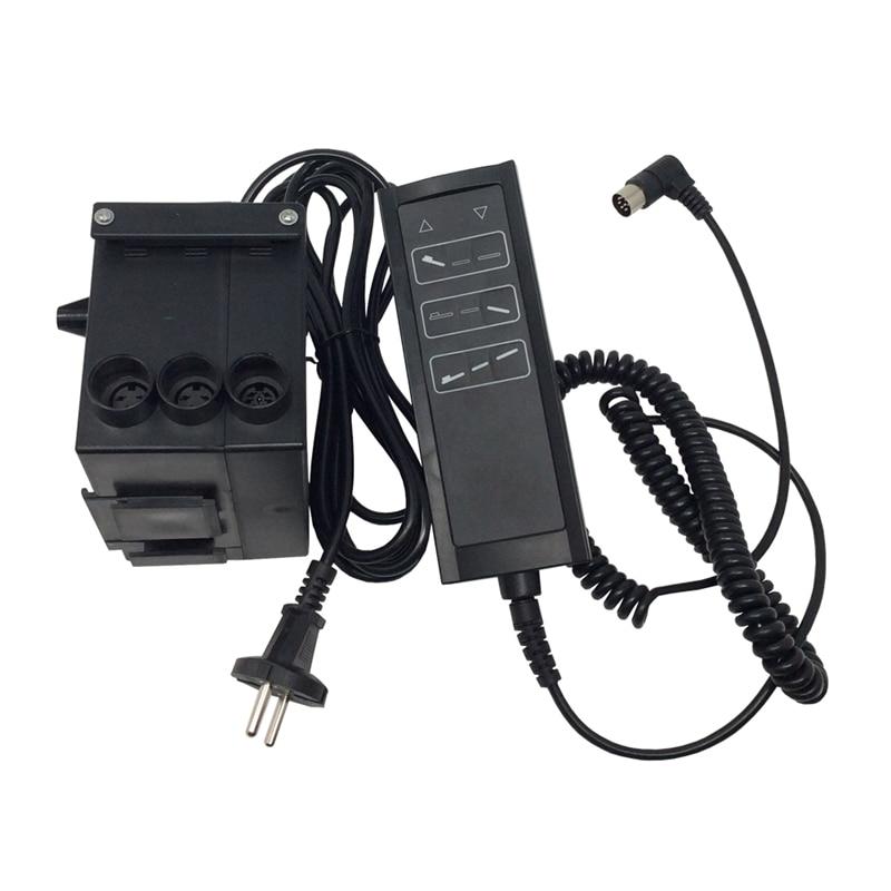 Entrada ac 220 v para dois controlador do atuador linear com dc 24 v fonte de alimentação adaptador elétrico para motor linear da engrenagem do atuador