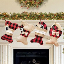 1 Pair Christmas Home Decor Stockings Pet Socks Christmas So