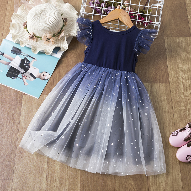 Elegant Flower Girls Dress Wedding Party Princess Dress Casual Kids Clothes Lace Long Sleeves Dress Children's Vestidos For 3-8T