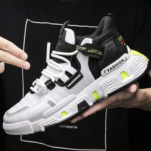2020 Men Sneakers Breathable Fashion Casual Lace-Up Men Vulcanize Shoes Male Air Mesh Lace Up Wear-resistant Sports Man Shoes lace up flatform mesh sneakers