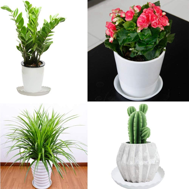 AYHF-30 Pcs Wave Plant Saucer Flower Pot Drip Trays/Durable Heavy Duty White Plant Tray for Indoor and Out Door Plant 6 Inch-4