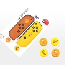 Joy Con-funda de silicona para mando de Nintendo Switch Ns, funda de agarre para Thumb Stick, tapas analógicas
