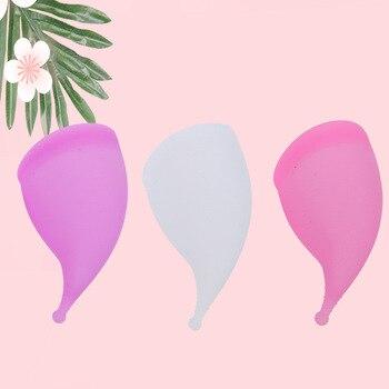 Copa Menstrual de higiene femenina, Copa para el período Menstrual, reutilizable, de...