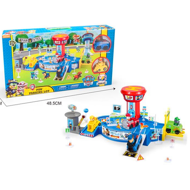 New Paw Patrol Dog Toy Patrol Rescue Training Base Model Children's Assembled Slide House Character Action Atlas Children Gifts