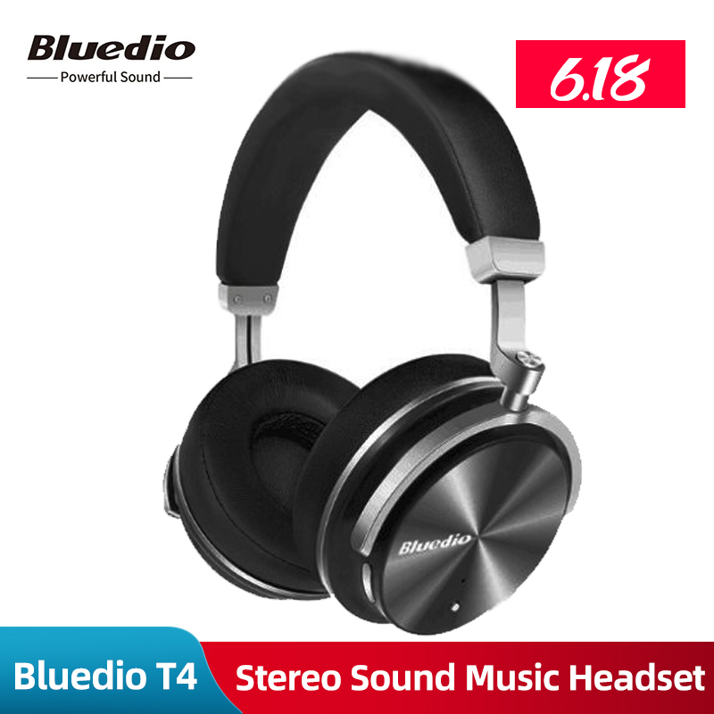 Original Bluedio T4 Wireless Headphones Bluetooth Earphones with Microphone Bluetooth Stereo Sound Music Headset for Phones
