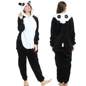 Kigurumi Panda Animal Adults Unicorn Onesies Pajamas Flannel Boy Girl Unicornio Sleepwear Kids Pyjamas Licorne Cosplay Costumes