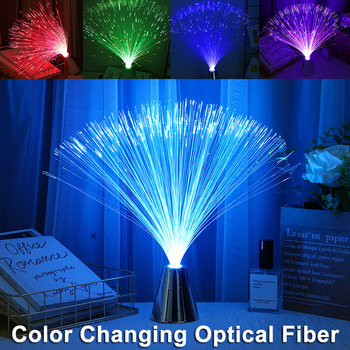 Multicolor LED Fiber Optic Light Night Lamp Holiday Christmas Wedding Home Decoration Nighting Lamps Fiber Optic Light D30 diy fiber optic light kit home decoration optical fiber light cree 16w rgbw led wireless remote spark fade jump modes for sales