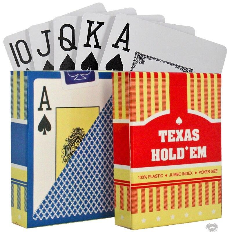 텍사스 카드 놀이 PVC 플라스틱 방수 포커 카드 갑판 포커 보드 게임 여행 게임