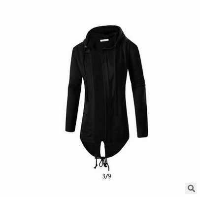 Litthing sudaderas con capucha para hombre moda Hip Hop Mantle Hoodies chaqueta de manga larga capa para hombre prendas de vestir Moleton Masculino