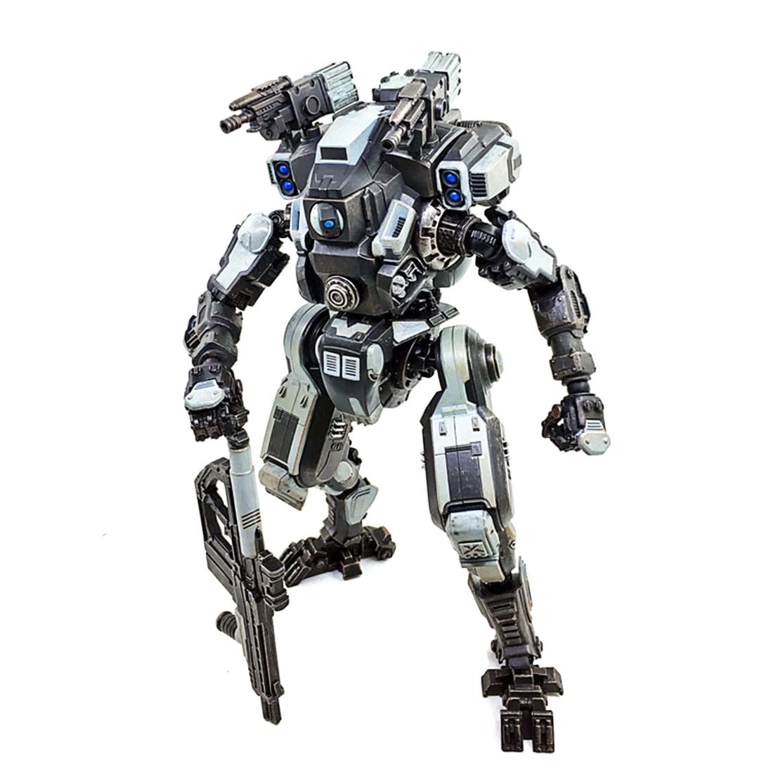 Mecha modèle nouvelles attaque bricolage 3D assemblage amovible soldat modèle avec haut degré de réduction (27cm Mecha + 7.5cm soldat)