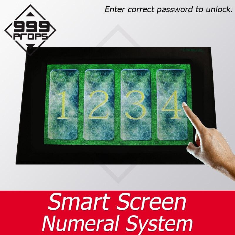 999 accessoires écran intelligent système de chiffre Prop vraie vie salle d'évasion entrer mot de passe correct pour déverrouiller takagisme jeu fournisseur
