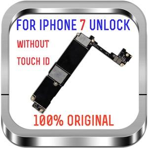 "Image 2 - 아이폰 7 4.7 ""마더 보드 32G 128gb MB 터치 ID 지문 Sopport LTE 4G 아이폰 7 잠금 해제 논리 보드 칩"