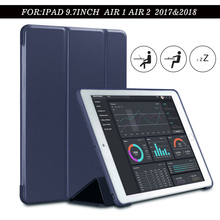 Купить с кэшбэком Case for New iPad 9.7 inch 2017 2018 Air2 Air1 Release, ZVRUA Soft silicone bottom+PU Leather Smart Cover Auto Sleep