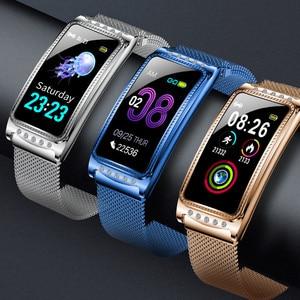 Image 5 - Smartwatch Neue F28 Smart Weiblichen Uhr Frauen Damen Ip67 Herz Rate Blutdruck Sauerstoff Verbunden