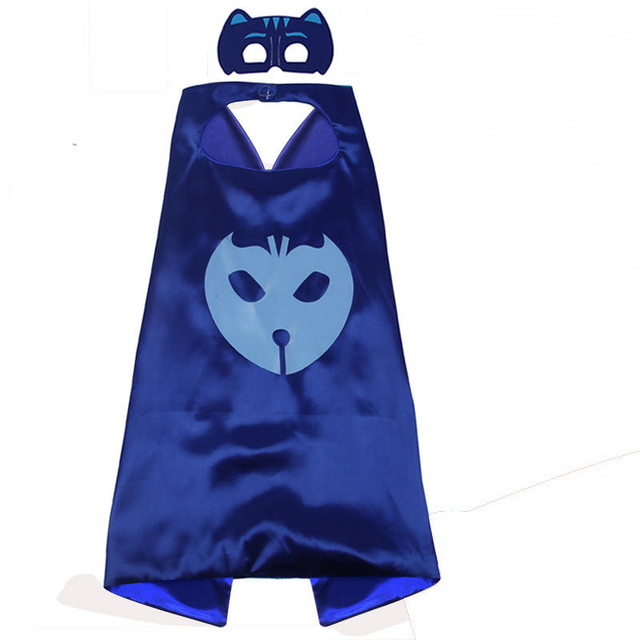 PJ Masks Children Mask Cloak Cosplay Half Face Mask Funny Halloween Party Decor Mask Superhero Anime Figure Masks Toy Kids Gift 4