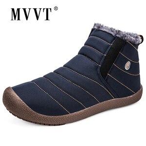 Image 1 - Super Warm Winter Men Boots Waterproof Super Quality Snow Boots Men Warm Winter Shoes Mens Ankle Boots Fur Botas Hombre