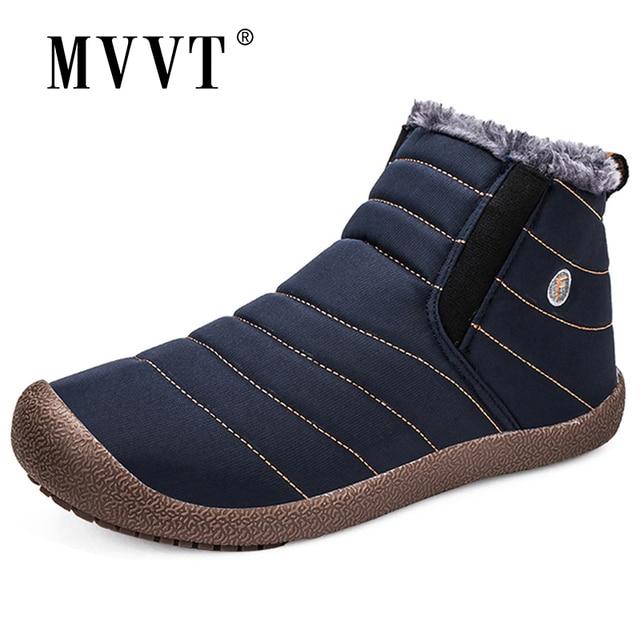 Super Warm Winter Men Boots Waterproof Super Quality Snow Boots Men Warm Winter Shoes Mens Ankle Boots Fur Botas Hombre