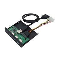 5 Ports HUB Front Panel Verlängerung Adapter Board TYPE-C 2 USB 3,0 Kartenleser Splitter mit Power Kabel für Desktop PC