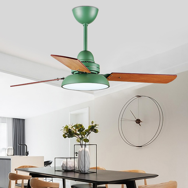 Nordic Industrial Wind Ceiling Fans 220v Wooden Ceiling Fans With Lights 42 Inch Blades Cooling Fans Remote Dimming Fan Lamp Available In Various Designs And Specifications For Your Selection