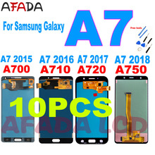 10PCS A7 LCD Screen For Samsung Galaxy A7 2015 2016 2017 2018 A700 A710 A720 A750 LCD Display Touch Screen Digitizer Replacement tft a750 lcd for samsung galaxy a7 2018 lcd sm a750f a750f a750 display with frame touch screen digitizer replacement parts
