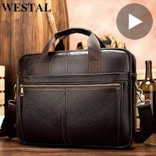 Портфель мужской из натуральной кожи сумка тоут для ноутбука