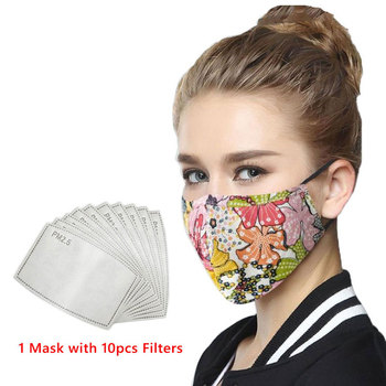 WECAN Reusable Face Mask Black Anti Fog Dust Pollution PM2.5 Filter Mouth Cover mascarillas Breathable Cotton Cloth Face Masks