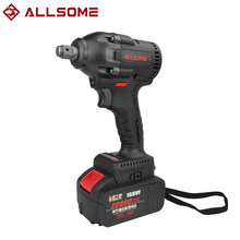 ALLSOME 168VF 520N.m 20800mah Brushless Wrench Li-ion Battery Electric Wrench Cordless Waterproof Impact Wrench Kit HT2896